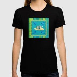 Nautical Beach Sand Pail Little Boy Plaid  T-shirt