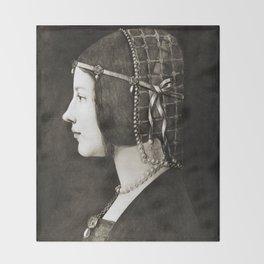 Bianca Sforza by Leonardo da Vinci  Throw Blanket