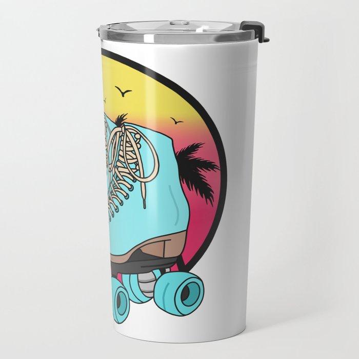 Retro roller skates Travel Mug