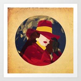 Gentlewoman thief Art Print