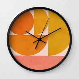 Abstraction_Summer_Color_Minimalism_001 Wall Clock