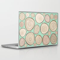 tree rings Laptop & iPad Skins featuring Tree Rings by Jackie Sullivan