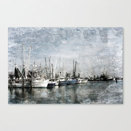 Shrimp Boats at the Harbor Canvas Print