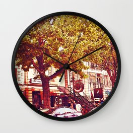 Montreal side street 001 Wall Clock