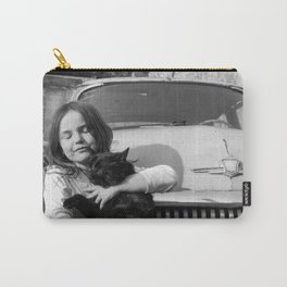 The girl with black cat Carry-All Pouch