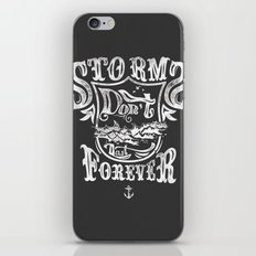 Storms don't last forever iPhone & iPod Skin