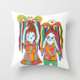 silly selkies Throw Pillow