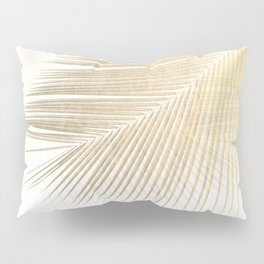 Palm leaf synchronicity - gold Pillow Sham