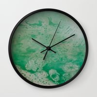 under the sea Wall Clocks featuring Under The Sea by ANoelleJay