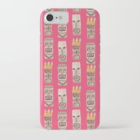 tiki iPhone & iPod Cases featuring Tiki by Abby Galloway