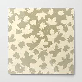 Envelope leaves decor. green ofwhite. Metal Print