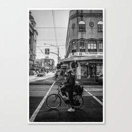 On your mark. (Chapel Street, 2013) Canvas Print