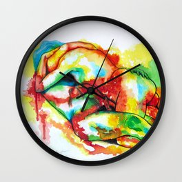 Lover's embrace Wall Clock