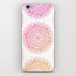 Pink & Orange Mandala iPhone Skin