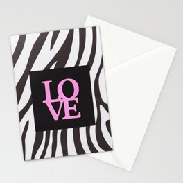 Love and black & white Stationery Cards