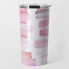 16 | 181101 Watercolour Palette Abstract Art | Lines | Stripes | Travel Mug