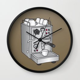 Espresso machine filter-holder Barista Wall Clock