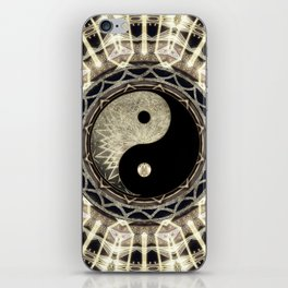 Yin Yang Geometry Mandala V1 iPhone Skin