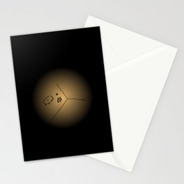 space and time - night Stationery Cards