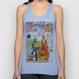 The Dogs Take Over Coney Island Unisex Tank Top