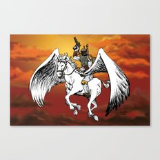 Boba Fett riding Pegasus Canvas Print