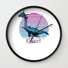 Vintage Retro Neon 80s Loch Ness Monster Nessie Gift Wall Clock