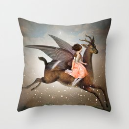 The Night Is Still Young Throw Pillow