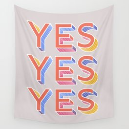 YES - typography Wall Tapestry