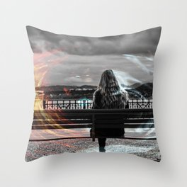 pure energy Throw Pillow