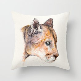 Priscilla the big cat of South America by Machale O'Neill Throw Pillow