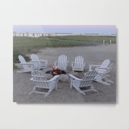 Fireside Chat Metal Print