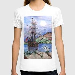 Tall Ship in the Moonlight T-shirt