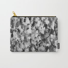 black and white pattern - paint brush design Carry-All Pouch