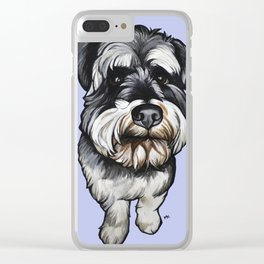 Barney the Miniature Schnauzer Clear iPhone Case