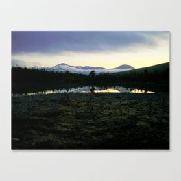Cloudy Morning in the Norwegian Mountains Canvas Print