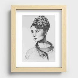 Audrey Hepburn - Charade Recessed Framed Print