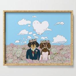 Dachshund Lovers - Honeymoon Serving Tray