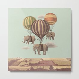 Flight of the Elephants - mint option  Metal Print
