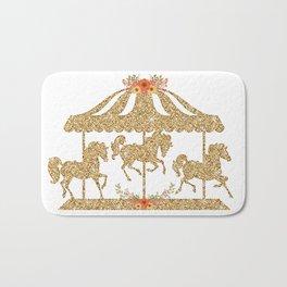 Glitter Carousel Bath Mat