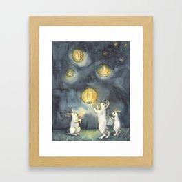 Sky Lanterns Framed Art Print