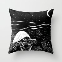 crab Throw Pillows featuring Crab by Megan Spencer