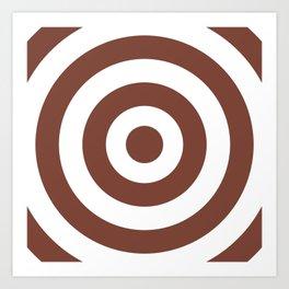 Target (Brown & White Pattern) Art Print