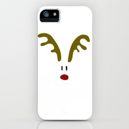 Christmas Red Nose Reindeer iPhone Case