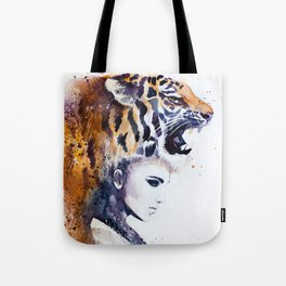 Tiger Girl Tote Bag
