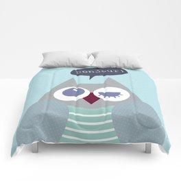 Owl bonjour Comforters