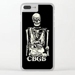 Punk You Vintage Skull CBGB Clear iPhone Case