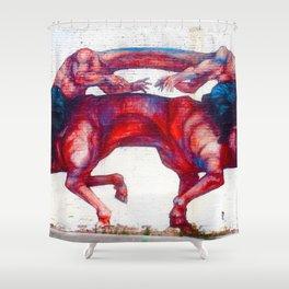 Headless Horsemen Graffiti Shower Curtain