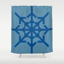 Radial Arrows - Lapis Blue and Niagara Shower Curtain