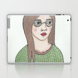 Girl with Glasses Laptop & iPad Skin