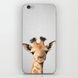 Baby Giraffe - Colorful iPhone Skin